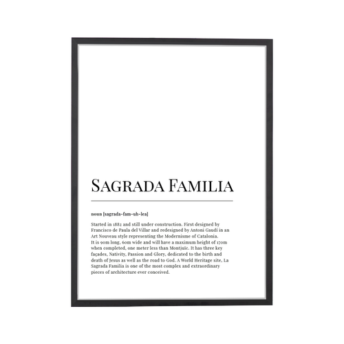 Sagrada Familia Dictionary Art Print