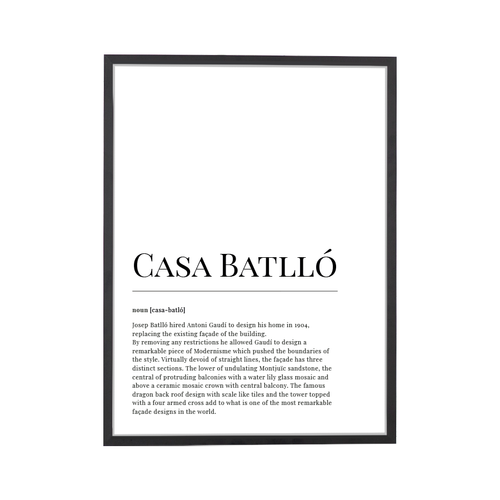 Casa Batllo Dictionary Art Print