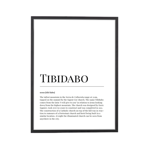 Tibidabo Dictionary Art Print
