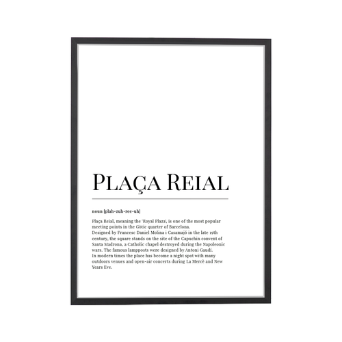 Placa Reial Dictionary Art Print