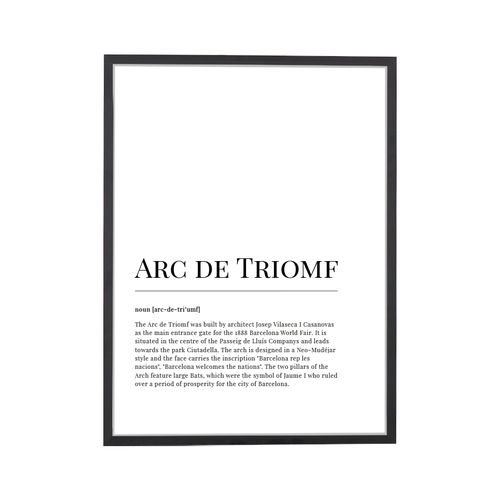 Arc de Triomf Dictionary Art Print