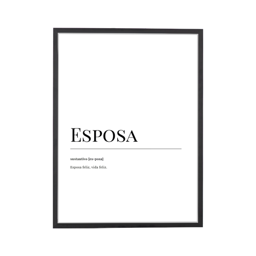 Esposa Dictionary ArtPrint