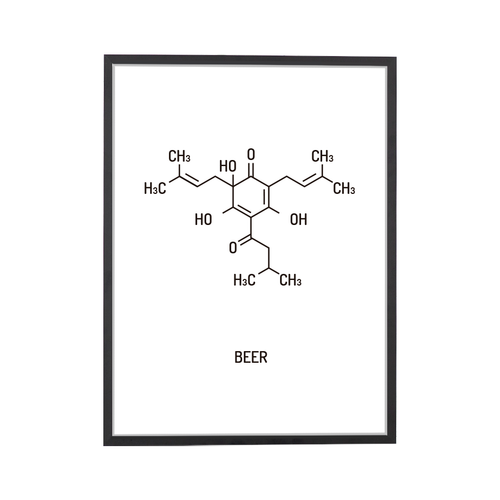 Beer Chemical Structure Art Print