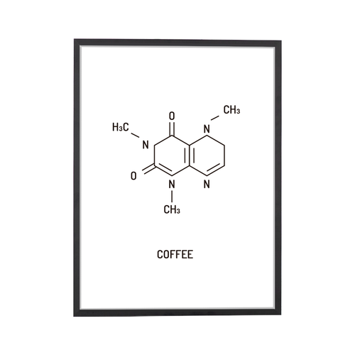 Coffee Chemical Structure Art Print