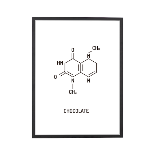 Chocolate Chemical Structure Art Print