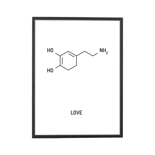 Love Chemical Structure Art Print