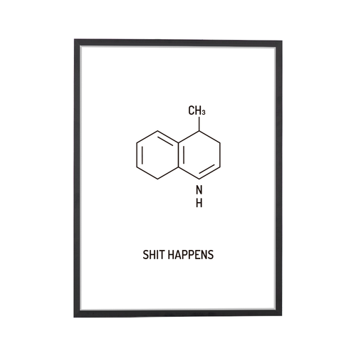 Shit Happens Chemical Structure Art Print