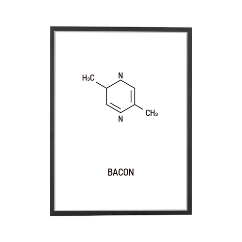 Bacon Chemical Structure Art Print