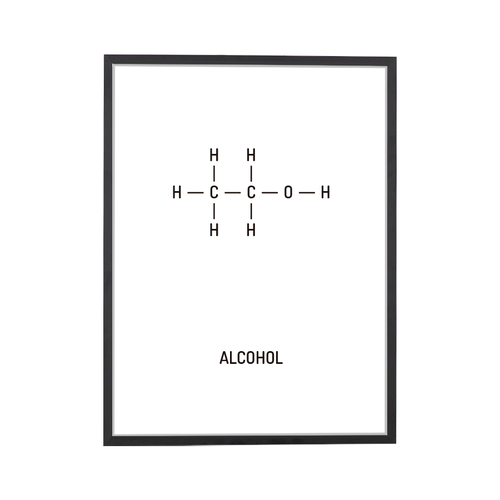 Alcohol Chemical Structure Art Print