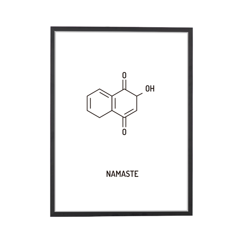 Namaste Chemical Structure Art Print