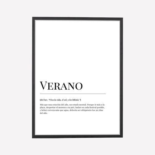 Verano Dictionary Art Print