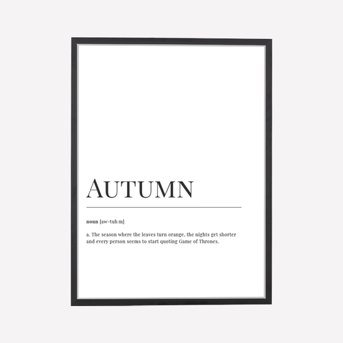 Autumn Dictionary Print