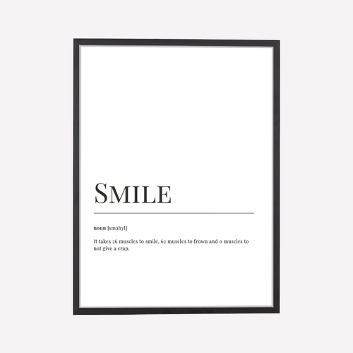 Smile Dictionary Print