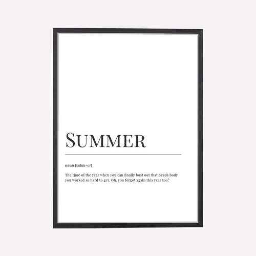 Summer Dictionary Print