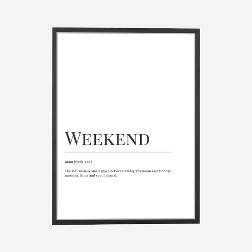 Weekend Dictionary Print