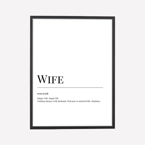 Wife Dictionary Art Print