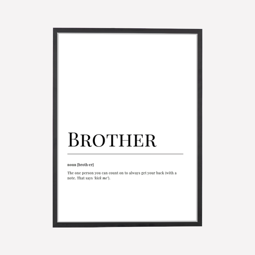 Brother Dictionary Art Print
