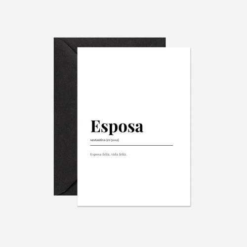 Esposa Dictionary Card