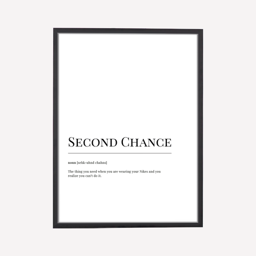 Second Chance Dictionary Art Print