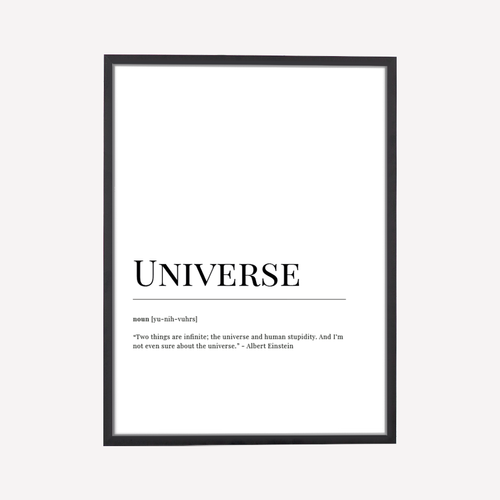 Universe Dictionary Art Print