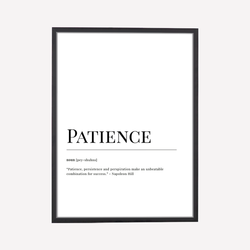 Patience Dictionary Art Print