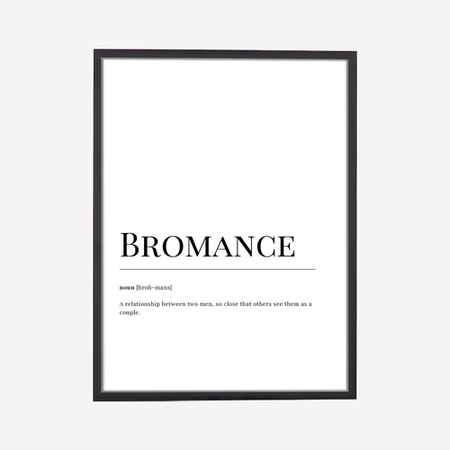 Bromance Dictionary Art Print