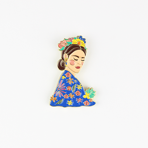 Frida Acuarela Pin