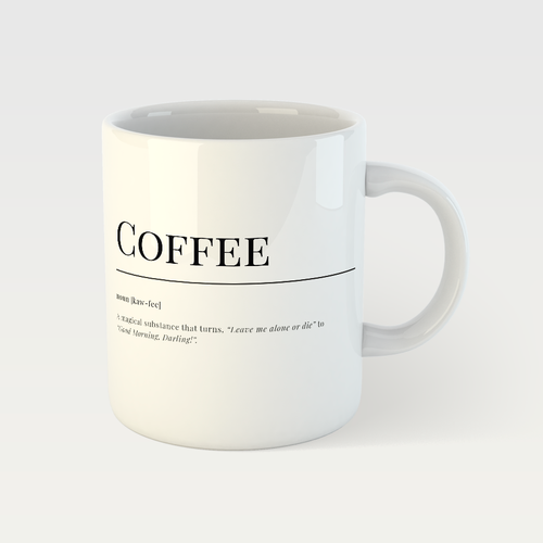 Coffee Dictionary English Mug