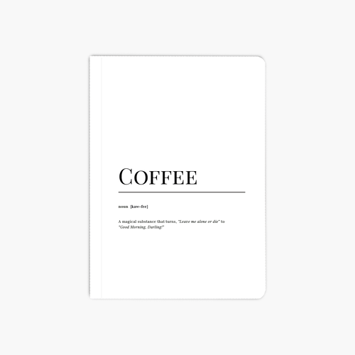 Coffee Dictionary A6 Notebook