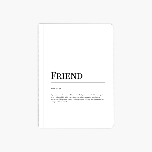 Friend Dictionary A6 Notebook
