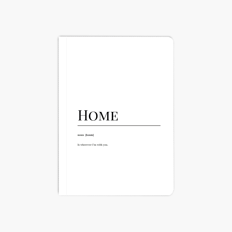 Home Dictionary A6 Notebook