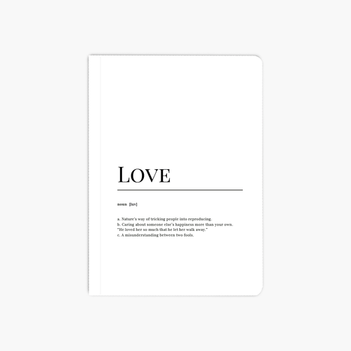 Love Dictionary A6 Notebook