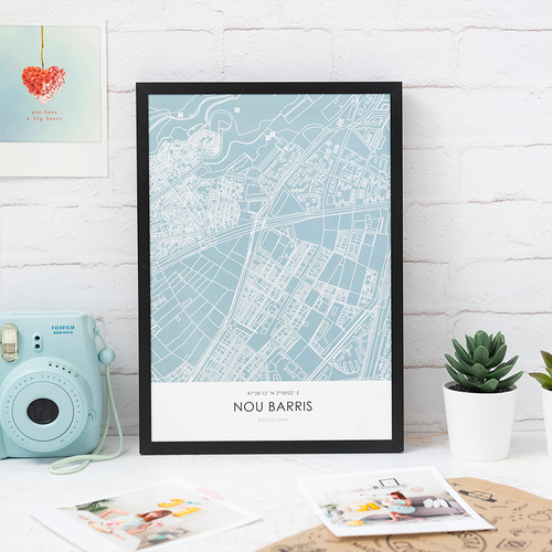 Nour Barris Line Map Art Print