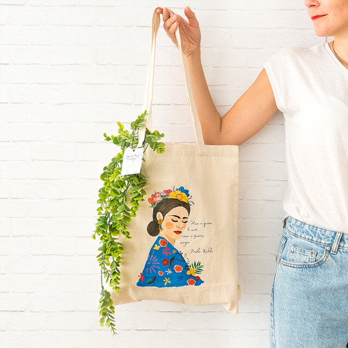 Frida Acuarela Tote Bag