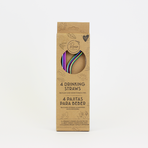 Rainbow Stainless Steel Straw Pack