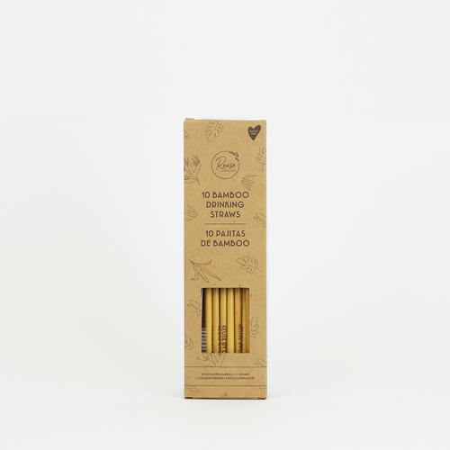 Bamboo Straws Pack of 10