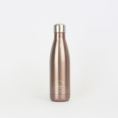 Stainless Steel Water Bottle Shiny Rose Gold