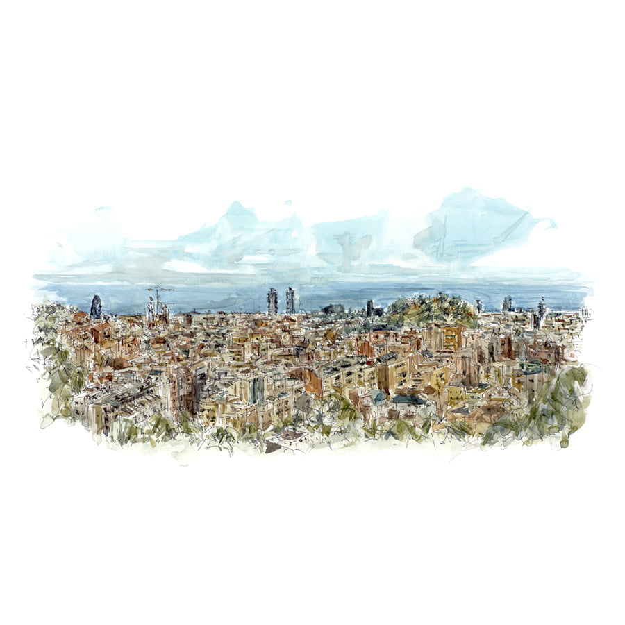 Views of Tibidabo A4