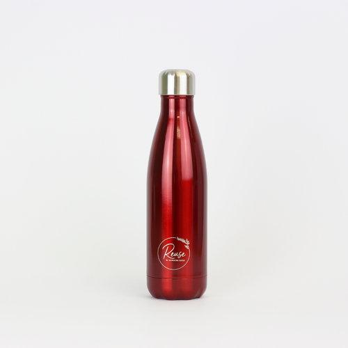 Stainless Steel Water Bottle Matte Red