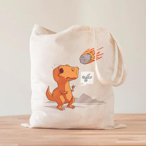 Asteroid Paper Scissors Tote Bag
