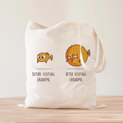 Before After Grandma Tote Bag