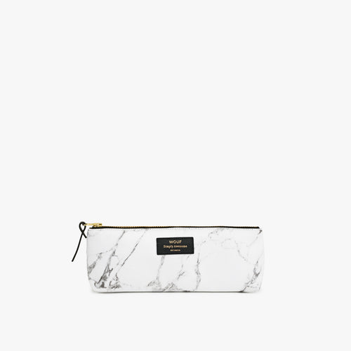Pencil Case White Marble