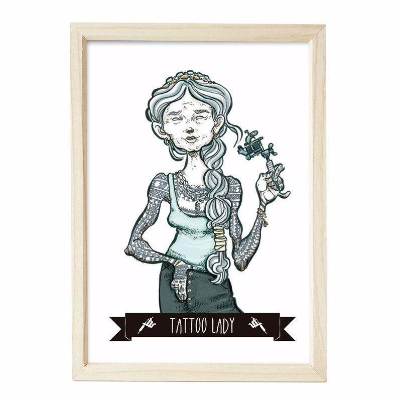 MTM294 Lady Tattoo 30x40
