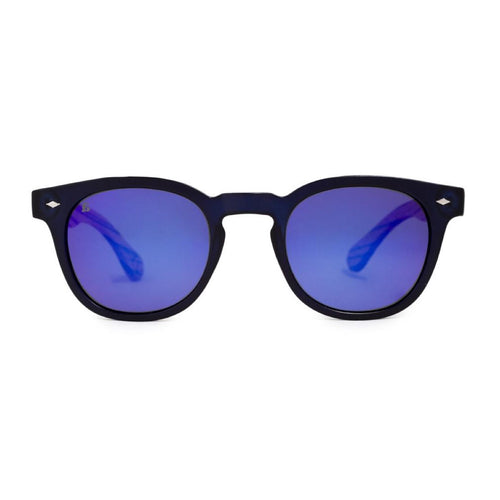 PE30 Oak Navy Mirror Sunglasses