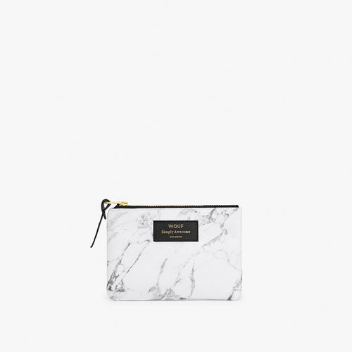 Small Pouch White Marble
