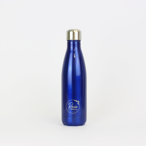 Stainless Steel Water Bottle Matte Navy Blue