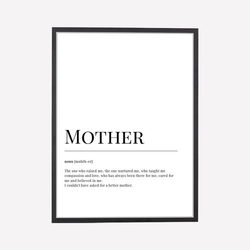 Mother Dictionary Art Print