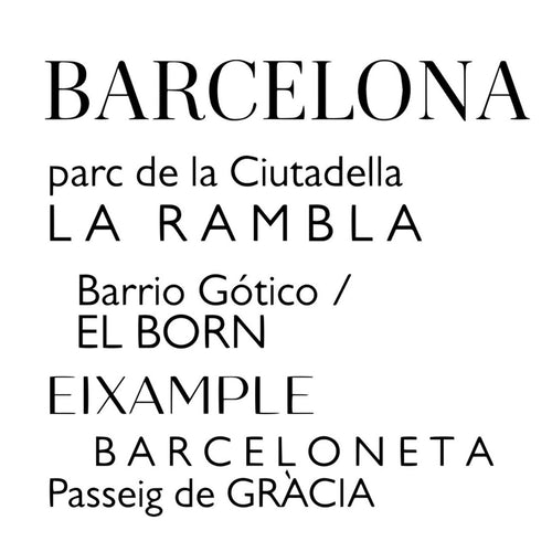 Barcelona Barrios Tote Bag