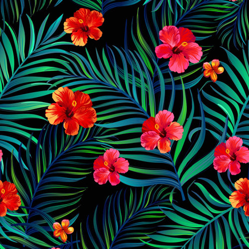 Funda Tropical Flor Roja I6