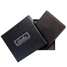 Load image into Gallery viewer, Bi-fold Leather Money Clip-Wallet-UAE LEATHERS